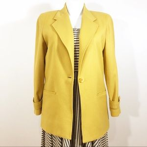 Vintage Requirements Wool Yellow Blazer Sz 12